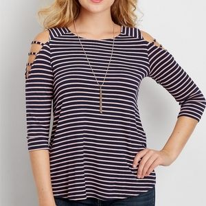 Maurices 24/7 Strappy Cold Shoulder Top